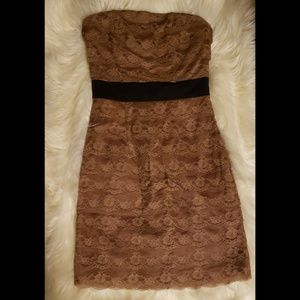 H&M Dresses - Brown lace dress
